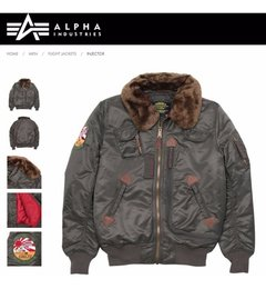 Campera Alpha Industries Injector Aviadora Original - tienda online