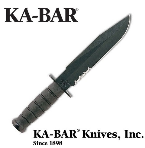 KA-BAR Cuchillo 1271 BLACK FIGHTER