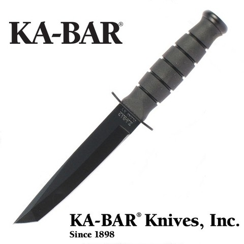 KA-BAR Cuchillo 5054 SHORT BLACK TANTO Original MADE IN USA