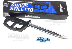 Puñal Manopla Cold Steel Chaos Stiletto 3 Filos En Stock
