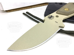 Cuchillo Bushcfraft Rowen Dpx Hest Tan Original Made In Usa