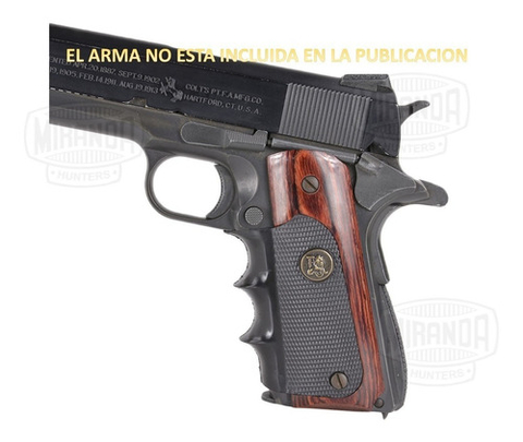 Cachas Pistola Colt 1911 Pachmayr Usa Madera Y Goma En Stock