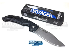 COLD STEEL Navaja VOYAGER CLIP POINT LARGE Filo Liso ORIGINAL