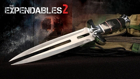 UNITED Cuchillo Oficial de Pelicula Expendables 2 Indestructibles 2 Doble Shadow STALLONE