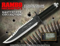 RAMBO Cuchillo First Blood Part II Sylvester Stallone Signature