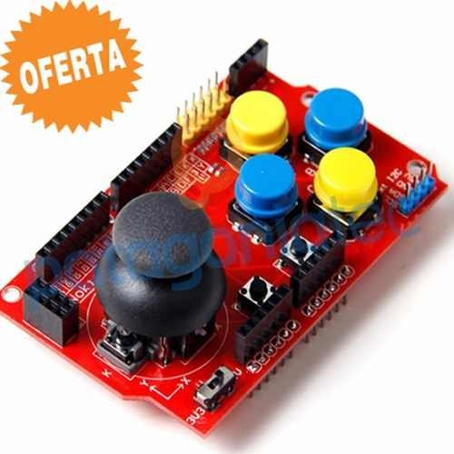 Arduino Joystick Shield 7 Botones Interfaces 5v 3.3v Ptec