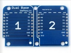 Base Dual Shield Para Wemos D1 Mini - PatagoniaTec Electronica