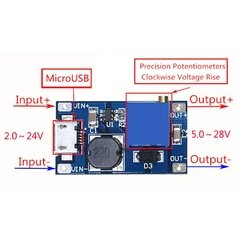Fuente Switching Step Up Mt3608 2a Dc Dc Con MICRO USB en internet