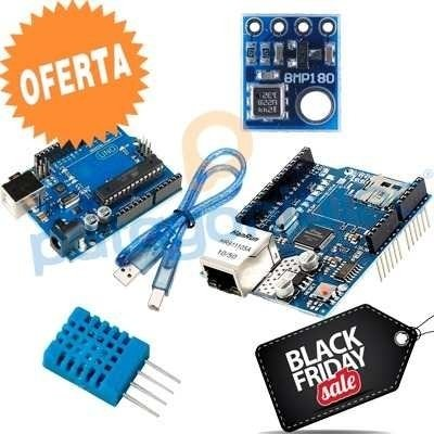 Kit Iot Arduino Uno + Ethernet Shield + Dht11 + Bmp180 KIT014 - buy online
