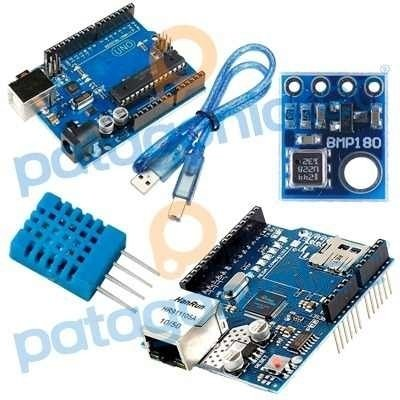 Kit Iot Arduino Uno + Ethernet Shield + Dht11 + Bmp180 KIT014