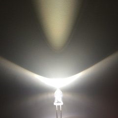 Led 3mm Blanco Frio Alto Brillo