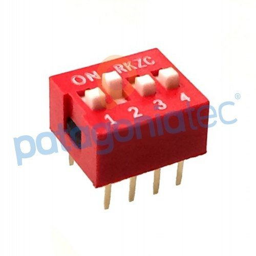 Dip Switch 4 Posiciones Interruptor Control