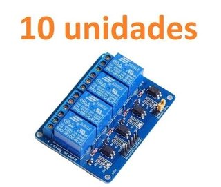 Pack 10x Modulo De Relee 4 Canales 5v
