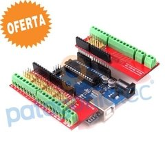Kit Arduino Uno Neutral R3 + Screw Shield Expansion V3 Ptec