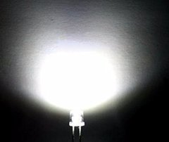 LED 5MM FLAT BLANCO