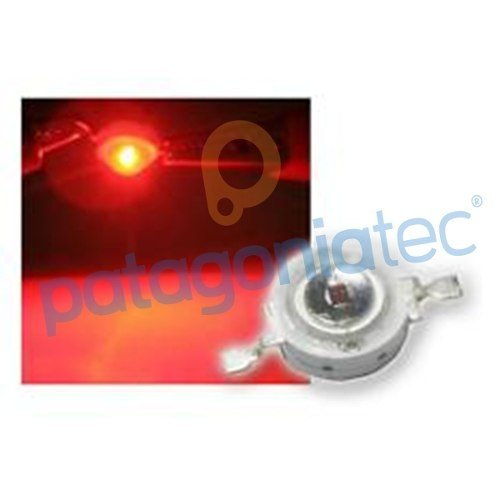 Led 1w Rojo Smd Alto Brillo