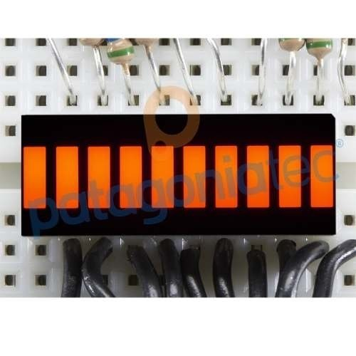 Display Led Rojo 10 Segmentos Vumetro Ptec - buy online