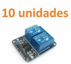 Pack 10 X Modulo De Relee 2 Canales 5v