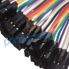 Kit 20 Cables 20cm Protoboard Arduino Hembra Hembra - comprar online