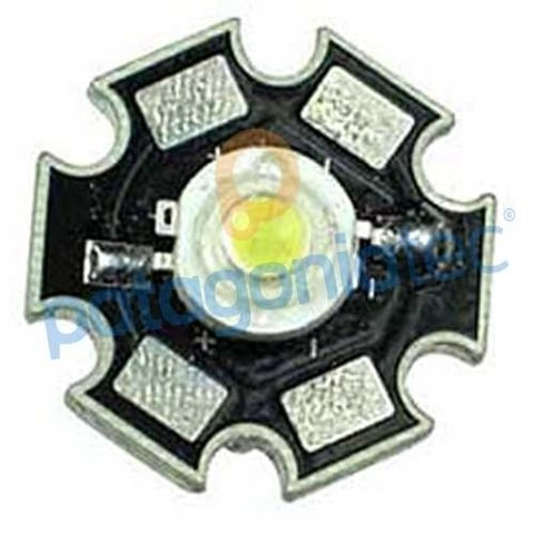 Led 1w Con Placa De Aluminio Blanco Alto Brillo en internet