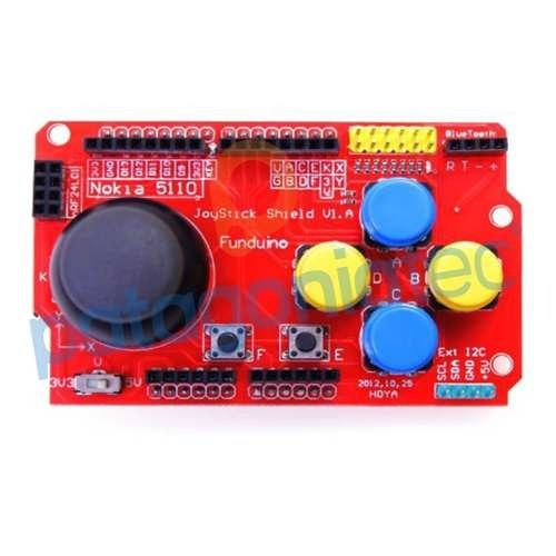 Arduino Joystick Shield 7 Botones Interfaces 5v 3.3v Ptec na internet