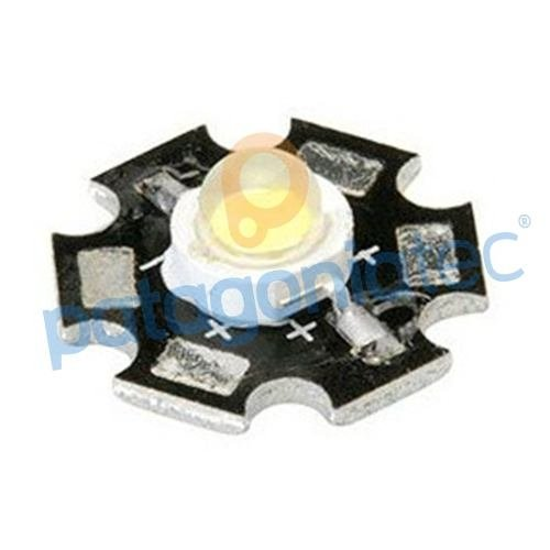 Led 1w Con Placa De Aluminio Blanco Alto Brillo