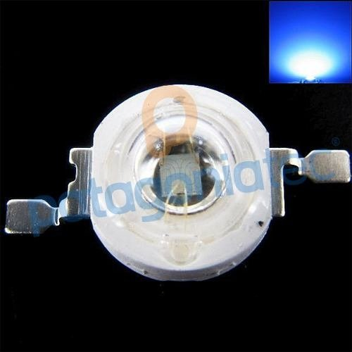 Led 1w Azul Smd Alto Brillo Luz Luminosidad Ptec na internet