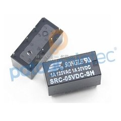 Relay 5v 1a 110v 2 Inversor Songle Src-05vdc-sh - PatagoniaTec Electronica