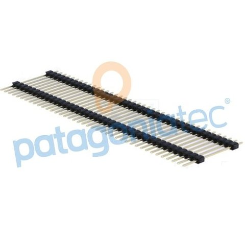 Tira De Pines Macho Largos Doble 2.54mm 1x40 23mm Alto Ptec