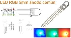 100 Led Rgb 5mm Anodo Comun 4 Patas Alto Brillo - buy online