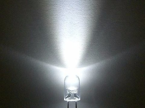 Led Blanco Frio 5mm Alto Brillo - buy online