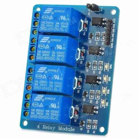 Pack 10 X Modulo De Relee 4 Canales 5v Opto Kit Arduino Ptec - buy online