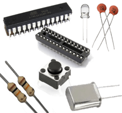 Kit Atmega 328p Pu Kit Cristal Capacitores
