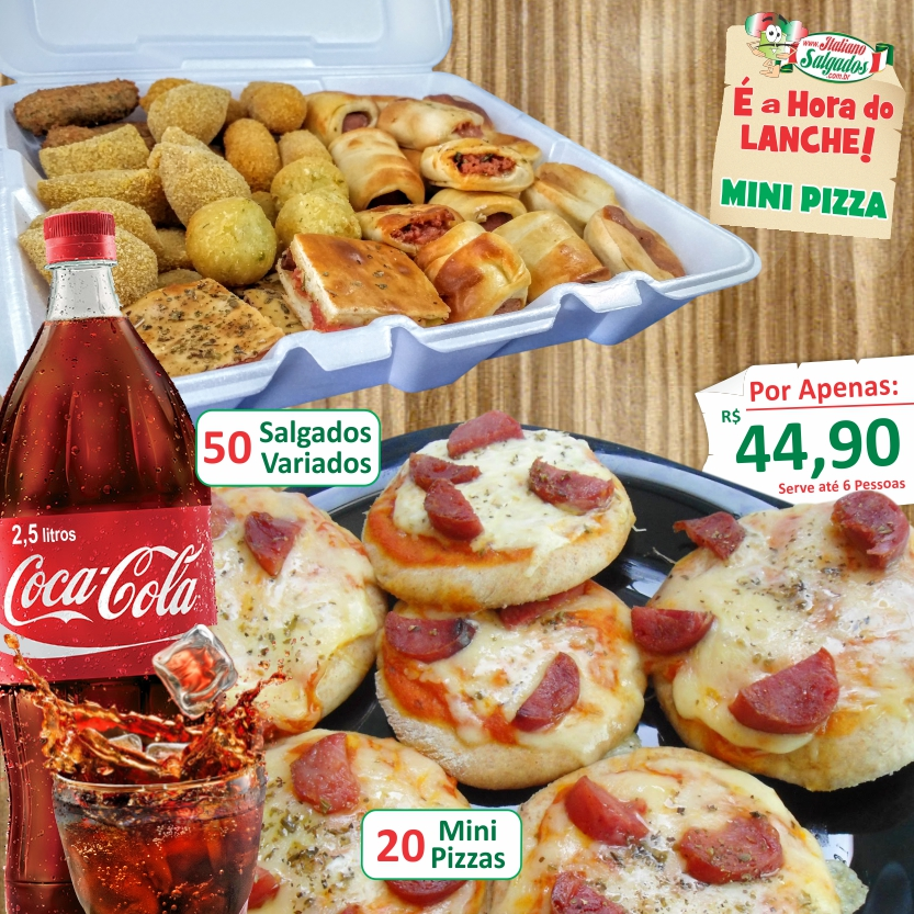 É a Hora do Lanche com Mini Pizzas