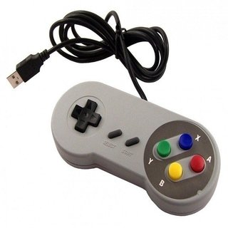 2 Controles Usb Snes (Par)