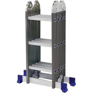 Escada Articulada Multifunção Aço Degraus Alumínio 4x3