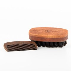 Beard Care Wingman Set: Beard Comb + Beard Brush