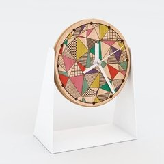 "RELOJ MESA- Wood in time ""Memphis colors"" - comprar online"