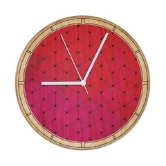 "RELOJ- Wood in time ""Watercolor Red"" - comprar online"