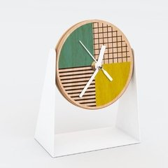 "RELOJ MESA- Wood in time ""Bicolor"""