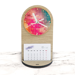 "RELOJ MESA Y PARED - Wood in time calendar ""Pixelmania"""