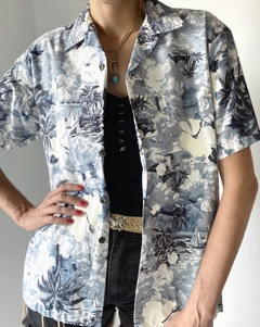 Camisa Hawaii blue
