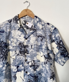 Camisa Hawaii blue na internet
