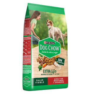 Dog Chow Adulto Sin colorantes Raza Mediana & Grande