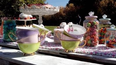 VAJILLA  VINTAGE  TEA PARTY - VAJILLA ANTIGUA - tienda online