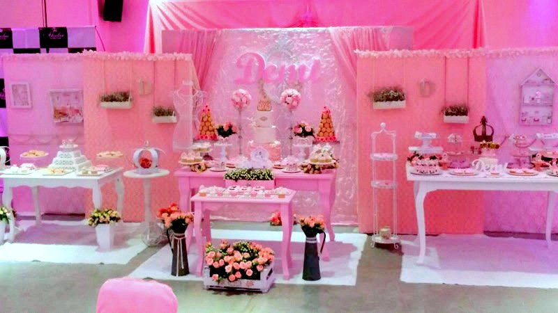 Alquiler decoracion mesas dulces candy bar shabby chic for Decoracion mesas dulces