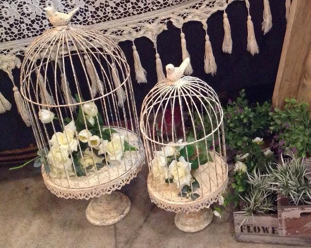 alquiler jaulas jaulitas decorativas shabby chic vintage la melange antiques