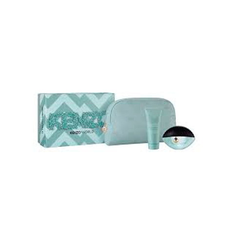 Kenzo World EDP 75 ml + Body Lotion 75 ml + Pouch - Eau de Parfum