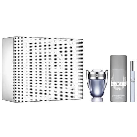 Invictus EDT 50 ml + EDT 10 ml + Deo Spray 150 ml - Eau de Toilette