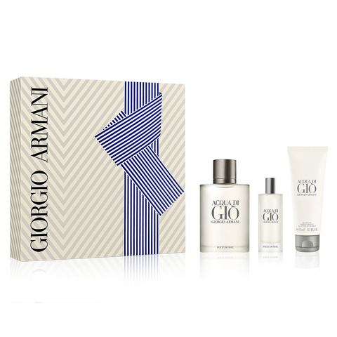 Acqua Di Gio Men EDT 100 ml + EDT 150 ml + Shower Gel 75 ml - Eau de Toilette